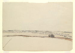 'Kurrachee Cantonment from the riding ground on the left of camp.  28th October 1840'. On reverse a military encampment